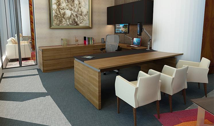 Elegantes Escritorios De Oficina Modernos.Lopez Morton Muebles De Oficinas
